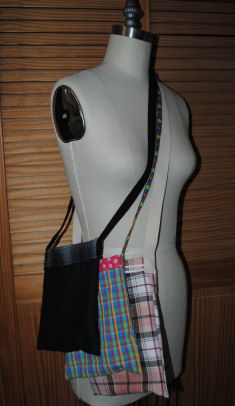 Learn to sew party, make an across the shoulder lined bag.