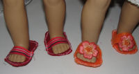 How to Sew flip-flops for an American girl doll.