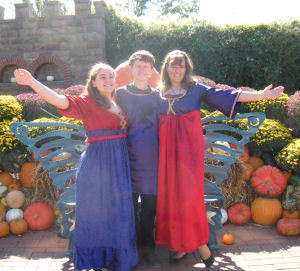 Handmade renaissance fair costumes designed and sewn by Alexandra.