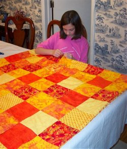Kids can make a pieced quilt, learn how to make an easy pieced ... : how to make quilts - Adamdwight.com