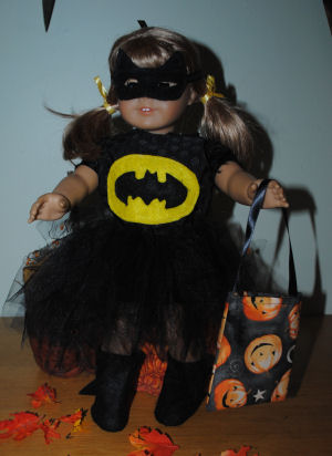 How to make a Bat Girl Halloween Costume for your American Girl Doll.