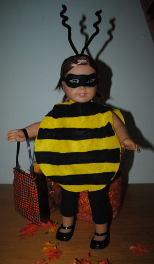 How to make a Bumble Bee costume for your American Girl Doll this Halloween.