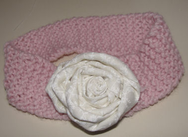 Free knitting project - How to knit a baby headband