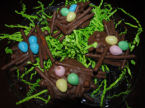 These delicious birds nest candy are a sweet treat to welcome Easter and Spring. They are made of chocolate, pretzels, and caramel.