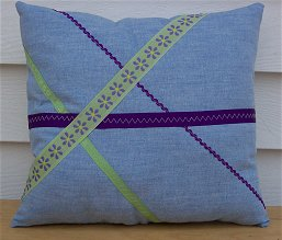 Making pillows is a great way to learn how to sew.