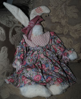 I made this cute little girl bunny using warm and natural quilt batting.