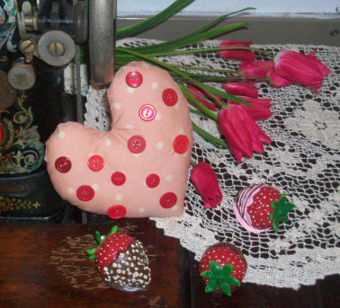 Valentine S Day Project To Sew How To Make A Vintage Button