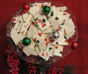 homemade christmas candy white chocolate peppermint bark