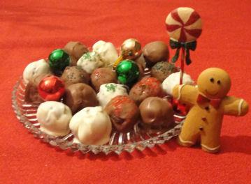 Homemade christmas candy recipe chocolate covered cake balls for Homemade candy for christmas recipes