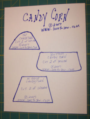 Baby Candy Corn Costume Pattern