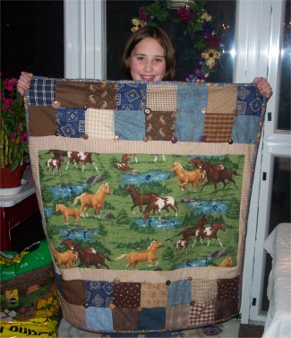 What a lovely horse quilt Katherine made!