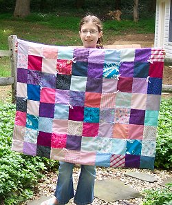 Catherine makes her very first quilt using our free pattern and directions.