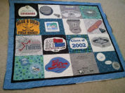 How to sew a t-shirt quilt out of all those old tshirts you own.