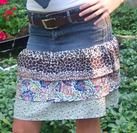 turn jeans into a skirt sewing