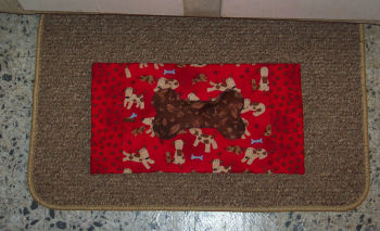 How to sew a placemat for your puppy or dog. A handmade pet project.