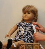 Learn to sew this adorable American Girl doll dress.