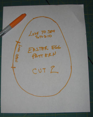 How to sew a fabric egg.