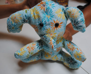 Here's a cute little stuffed elephant you can sew!