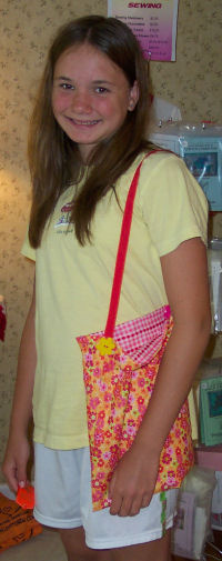 You can sew this adorable lined purse for your friends.
