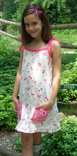 What an adorable dress kids can sew in fashion design camp.