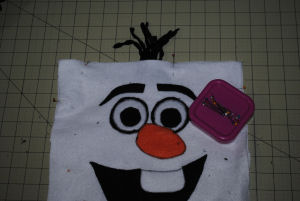 FROZEN Inspired Craft: Large Olaf Face Pillow made from Felt Fabric - Easy to Sew!