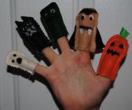 These adorable Halloween character finger puppets are easy to make by just using little scraps of felt that you would normally throw away!