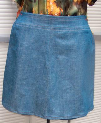 how to make a denim skirt, denim skirt flat felled seam, how to ...