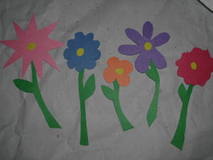a kids craft project for mothers day how to make paper flowers basket craft for