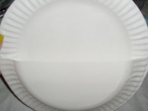 A kids craft project for mothers day how to make paper flowers cut one paper plate in half glue the half onto the other plate with the plates facing each other to form a pocket or basket as shown mightylinksfo