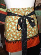 How to sew a quick and easy Halloween apron.