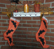 How to sew some scary Halloween Stockings.
