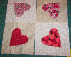 Learn to zig-zag applique this country heart candle mat.