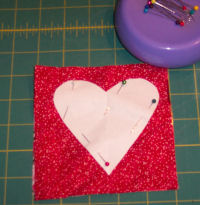 Easy to sew raggedy heart coasters.