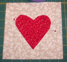 Easy to sew heart coasters.