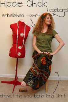 How to Make a Long free-spirited drawstring Skirt, How to