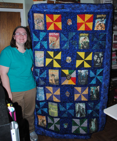 The Making of Haley's Magical Harry Potter Quit: A One-of-a-Kind ... : harry potter quilt - Adamdwight.com