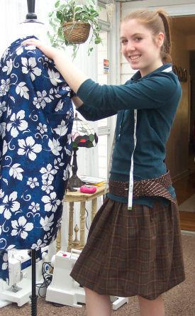 "Jackie sews a ""Bubble Skirt""."