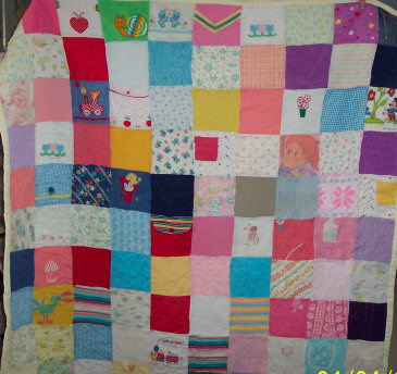 QUILTS FROM BABY CLOTHES PATTERNS