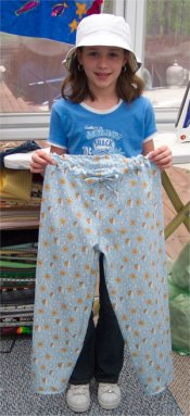Cute pajama pants that anyone can sew.  It's SEW easy...
