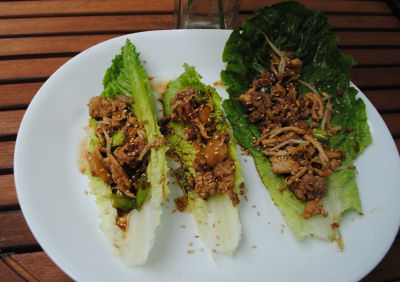 Try these delicious asian lettuce wraps, my healthy version.