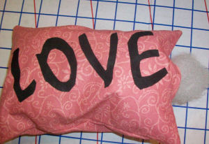 Stuff your love Valentine's day pillow.