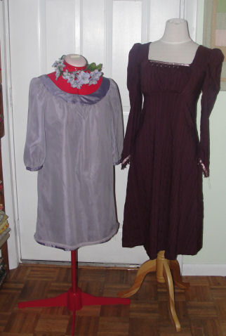 Love to Sew Studio in Chadds Ford, PA shows two looks created by the books, The Secret Garden and Pride and Prejudice.