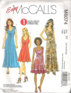 Love to Sew Studio pattern review for McCall's 6074 One hour dress to sew.