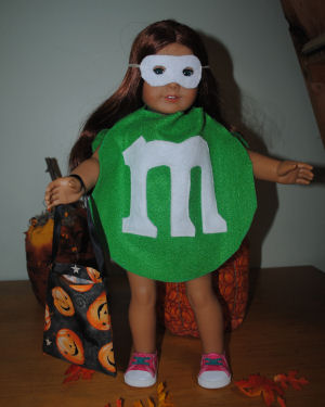 How to make an m&m Halloween costume for your American girl doll.