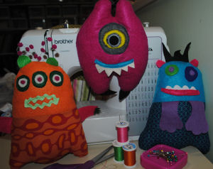 Have a learn to sew silly monster party!