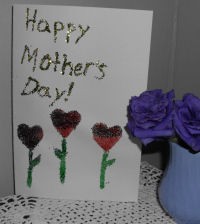 A handmade Mother's day card for mom on her special day.