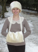 How to make a lined faux fur muff that is easy to sew...so vintage.