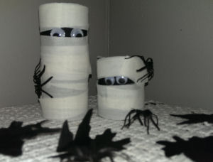 toilet paper roll mummy and me halloween craft for kids to make - Halloween Mummy Crafts