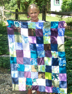 My 1st Quilt in shades of blue!