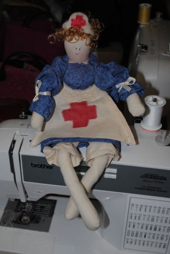 Handmade nurse doll - it's so easy to sew!